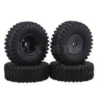 Mxfans Black Rubber Tire 1 9Inch Plastic Imitate Wheel Rim For RC 1 10 Rock Crawler