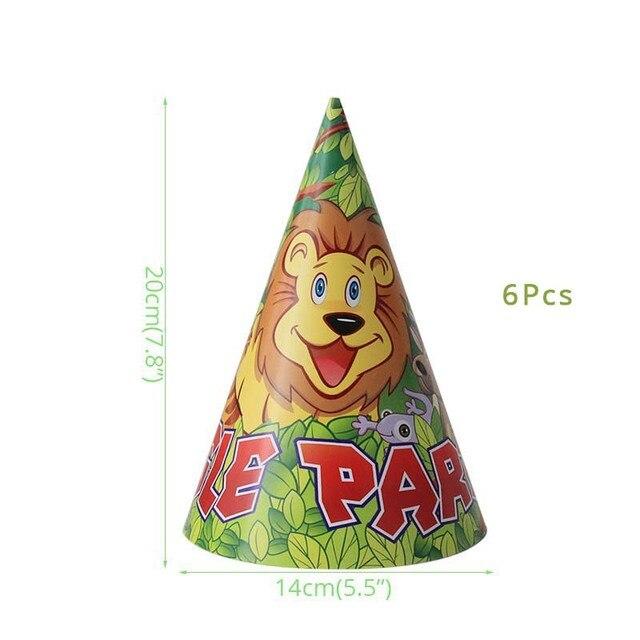 6pcs Hats Monkey 1st birthday decorations 5c64f9ae5e140