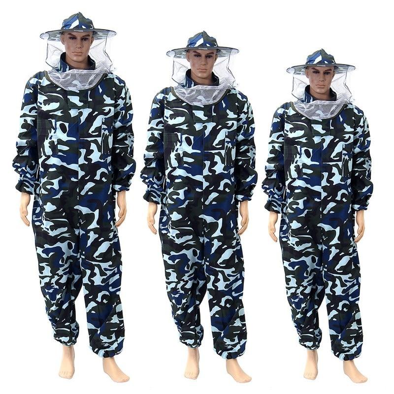 bilder für Neue hosen schleier bienenkleid schutz kleid camouflage bienenzucht anzug schutz sicherheit clothing imker bee anzug kittel