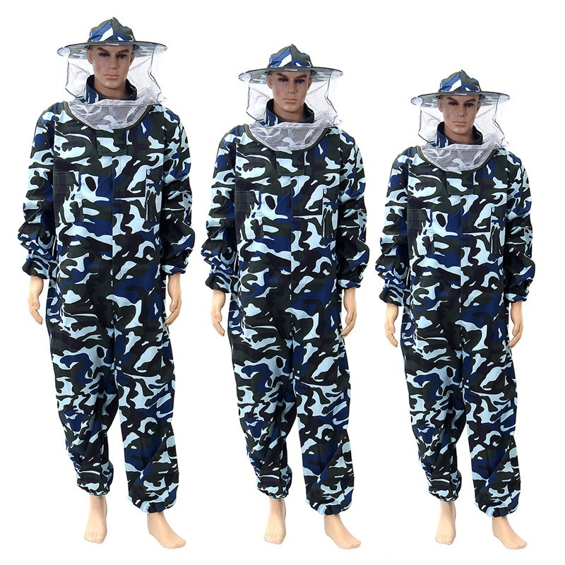все цены на New Pants Veil Bee Protecting Dress Camouflage Beekeeping Suit Protective Safety Clothing Beekeeper Bee Suit Smock онлайн