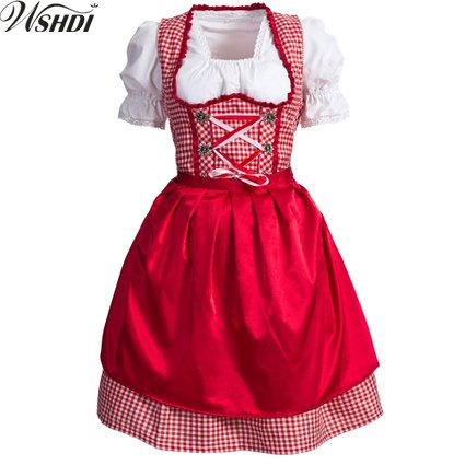 2018 Oktoberfest Germany Beer Carnaval Festival October Dirndl Skirt Dress Apron Blouse Gown Costume Beer Girl Fancy Dress