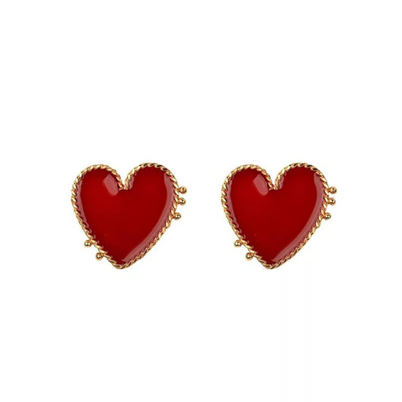 HTB1l1scXNz1gK0jSZSgq6yvwpXa5 - AENSOA Vintage Bohemia Big Red Heart Earrings For Women Fashion Girl Large Sweet Heart Statement Earrings Party Jewelry