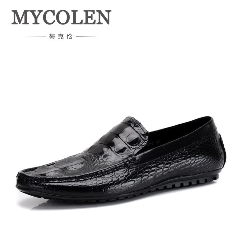 MYCOLEN Luxury Men Shoes Black Leather Men 'S Casual Shoes Brand Comfortable Spring Fashion Breathable Men Loafers Sapatenis zplover fashion men shoes casual spring autumn men driving shoes loafers leather boat shoes men breathable casual flats loafers