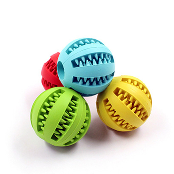 Funny Interactive Rubber Balls Pet Dog Cat Puppy Chew Toys Ball Teeth Chew Toys Tooth Cleaning Balls Food game