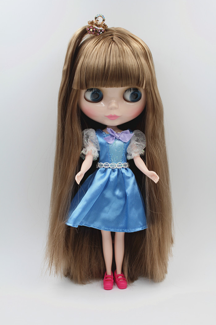 Blygirl Doll Bruin haar Blyth body Doll Fashion kan make-up veranderen