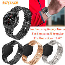 22mm For huawei watch GT metal watch band For Samsung Galaxy 46mm/gear S3 watches strap Replacement wristband Bracelet watchband stainless steel for huawei watch gt watches strap 22mm for samsung galaxy 46mm gear s3 watch band replacement bracelet wristband