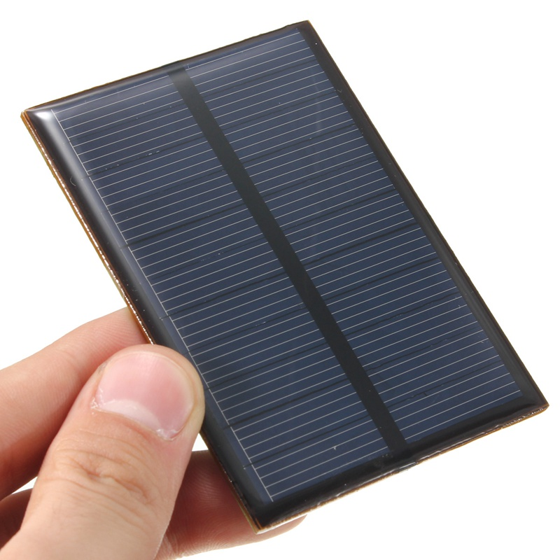 CLAITE Solar Panel 5.5V 0.66W Solar Charger 5V Phone Battery Charger DIY Epoxy Monocrystalline Silicon Cells For Cellphone