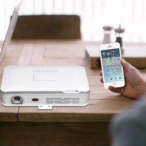 WOWOTO проектор Full HD 1080P Электрический Фокусировочный проектор 3600Ansi LED портативные проекторы Touch the top cover для домашнего кинотеатра T8