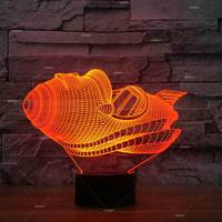 Flying Car Model Led Nightlight 3d Creative Arrangement Color Desk Lamp BedsideFirst Choice Table Lamp For Bedroom