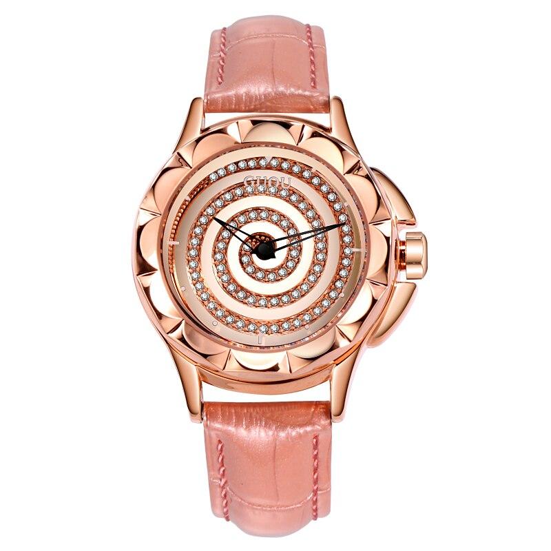3ace12fdc05 GUOU Relógios das Mulheres da Moda 2018 Senhoras Relógios Para As Mulheres  Relógio Mulheres Rotating Dial Couro Relógio feminino relogio saat