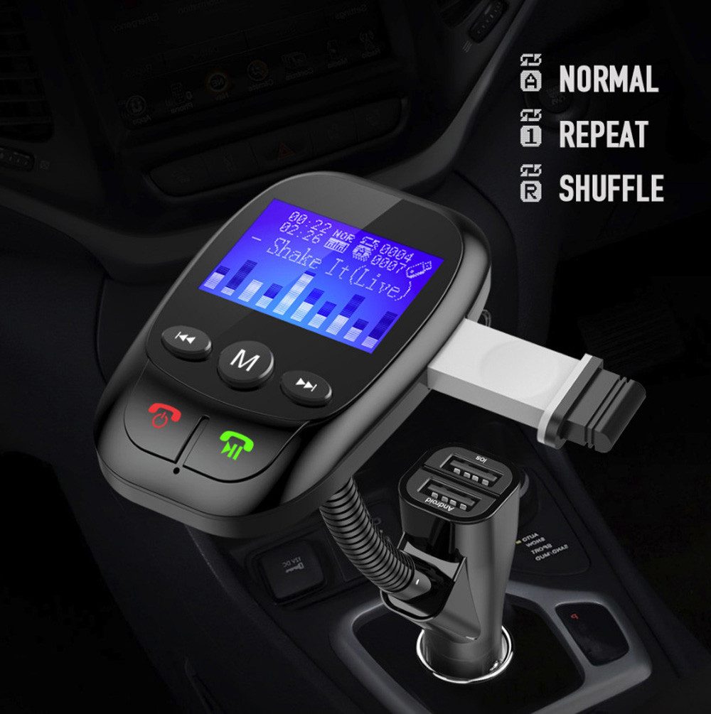 Fm Transmitter Bluetooth Modulator Handsfree Car Mp3 Player Bt20 Dual Usb Charger Wma Audio Hands Free Call 5v 34a Support Tf Card Music Pl 2018 Wireless In Kit