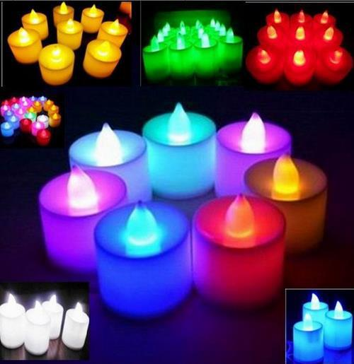 LED lights wedding tea light electronic candle lamp party event Halloween flameless flickering battery candles colorful