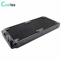 280mm Aluminium wasser kühlung gekühlt kühler kühler für computer Chip CPU GPU Laser Wärme Tauscher-in Lüfter & Kühlung aus Computer und Büro bei