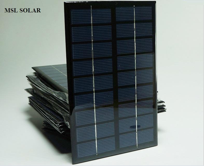 MSL SOLAR 3W 9V solar panel for DIY  solar charger solar power bank  Polycrystalline Solar panel cell  Freeshipping