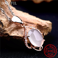 New Arrival 925 Sterling Silver Rare Crystal Brand Necklaces Pendant Hot Sale Pure Silver Jewelry for Women