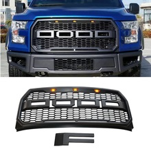 Front Radiator Grills Racing GRILL BUMPER MASK ABS BLACK MASK GRILL FIT FOR F-150 F150 PICKUP MODIFIED GRILLS AUTO PARTS 2015-17 40 120cm honeycomb car radiator grills plastic racing radiator grill mesh front bumper vent decoration accessories