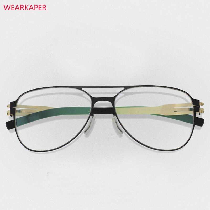 WEARKAPER  No Screw Eyeglasses Frames Glasses Eyewear MEN Women Spectacle Frame Gafas De Grau