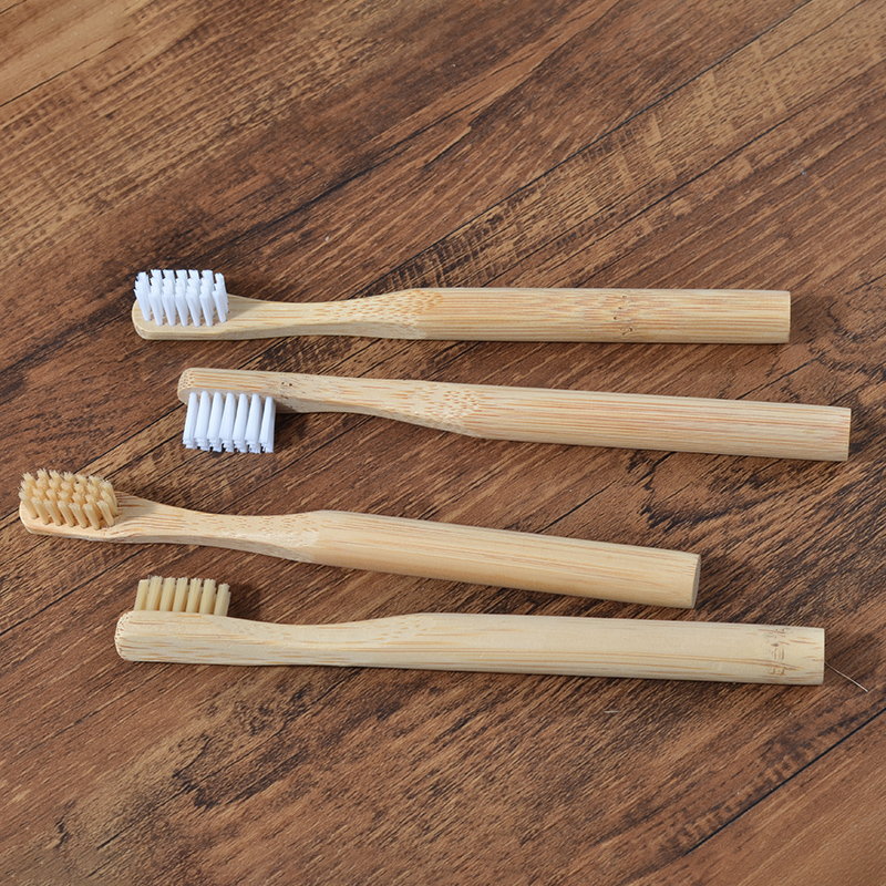 Children Toothbrush Soft Vegan Bristles Bamboo Toothbrush Biodegradable Plastic-Free Eco Toothbrush Oral Care Tooth Brush image