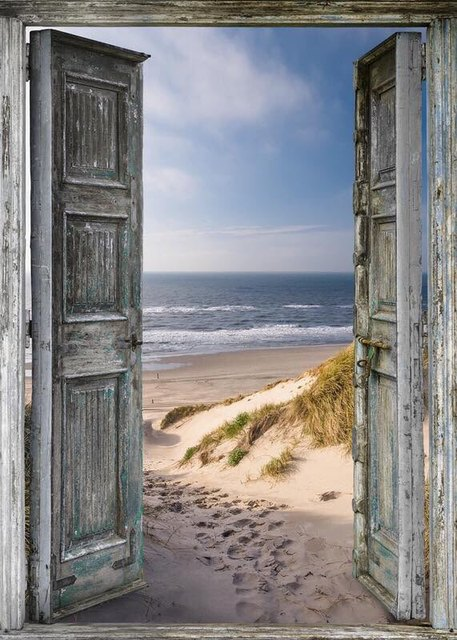 3D Door to Seaside landscapes