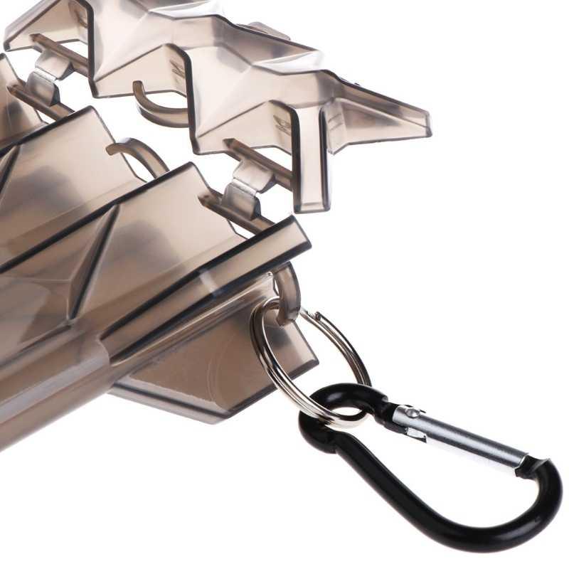1PC Darts Box Holder 15.6*8.4*3.4cm Lightweight Case W// Keychain Portable