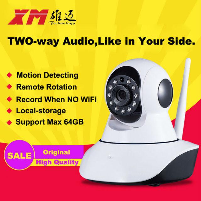 XM HD Câmera IP Sem Fio IR-Cut Night Vision De Gravação De Áudio rede CCTV Onvif Pan/Tilt P2P Monitor Do Bebê Wi-fi de Segurança Em Casa Cam
