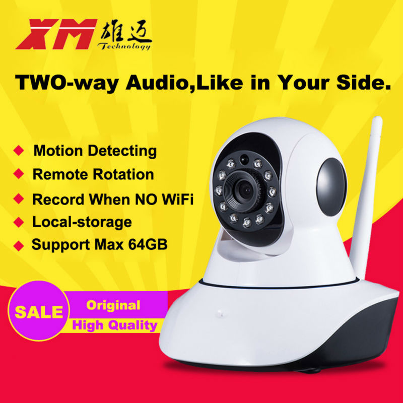 XM HD Wireless IP Camera IR-Cut Night Vision Audio Recording Network CCTV Onvif Pan/Tilt P2P Baby Monitor Wifi Home Security Cam 720p hd ip camera wireless wifi pan tilt two way audio p2p ir cut onvif cloud night vision micro sd card security cctv camera