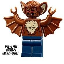 Super Heroes Batman Arkham Asylum Filme do Homem-Morcego Two-Face Bruce Wayne Robin Modelo Blocos de Construção de Tijolos Brinquedos para as crianças PG146