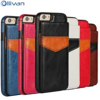 Ollivan 6 S Crazy Horse TPU Leather Case For Iphone 6s Case Wallet Card Holder Back