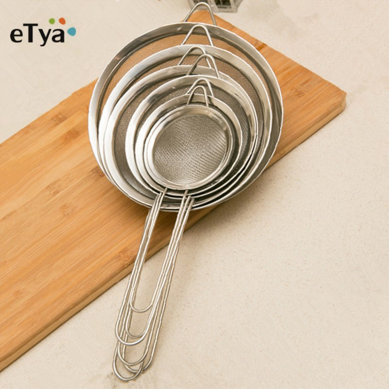 1pc Stainless Steel Wire Fine Mesh Oil Strainer High Quality Flour Sifter Sieve Colanders DIY household Tool Kitchen Accessories