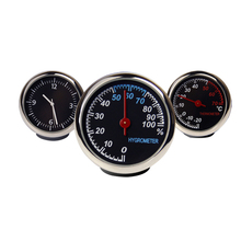 Car Thermometer Auto Hygrometer Car Clock Thermometer Ornaments Quartz Clock Hygrometer Automotive Electronic Watch