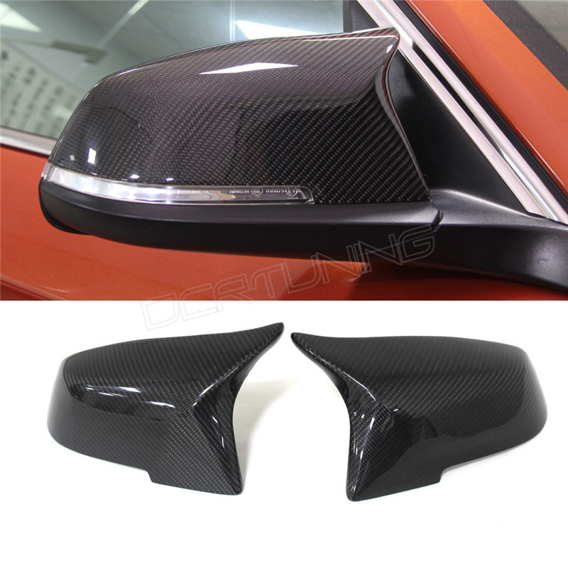ФОТО For BMW F30 F32 F33 F20 F22 F23 F36 X1 Mirror M3 M4 Look Rear View Mirror Cover For F20 F30 F22 F36 F23 Carbon & Gloss Finish