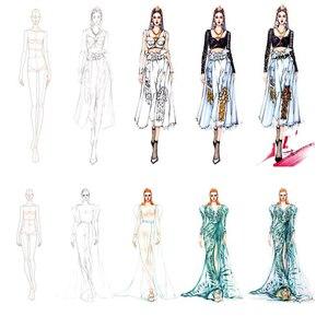 Image 5 - Thiết Kế thời trang Người Cai Trị Vải Thiết Kế Đường Vẽ Trang Phục May Nguyên Mẫu Người Cai Trị Con Người Năng Động Tiêu Bản Cho Học Sinh Trường Vẽ