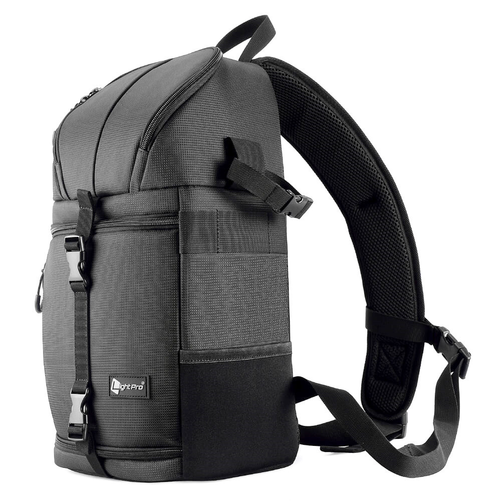 Camera Sling Bag Shoulder Cross DSLR Case Waterproof w/ Rain Cover Camera Sling Soft Padded Men Women Bag Backpack