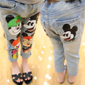 2016 New Mickey Children Jeans trousers Spring Summer Girls jeans Cute Boys denim pants trousers for girls kids denim jeans