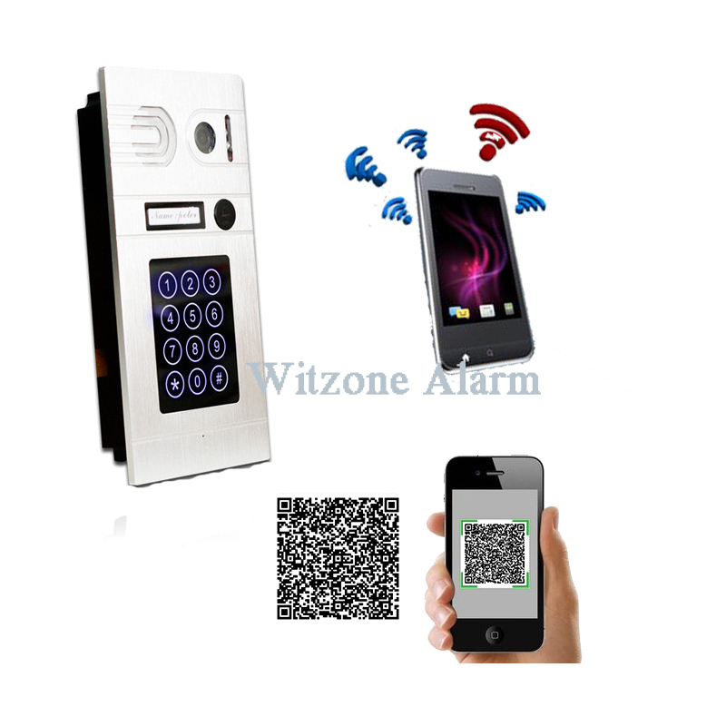 Wireless IP Video Doorphone Keyless Entry System WIFI IP Doorbell Camera with Android IOS APP or Password Control Door Open smart led table lamp desk lamp with wifi ip camera app for android ios phone hd1080p video camera audio recording with 8gb