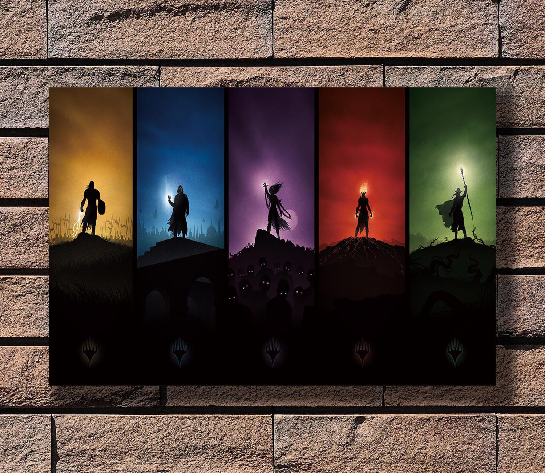 Art Magic The Gathering MTG Card Games Minimalist Wall Fabric Cloth Poster 821