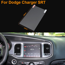 Car Styling 8 Inch GPS Navigation Screen Steel Protective Film For Dodge Charger SRT Control of LCD Screen Car Sticker