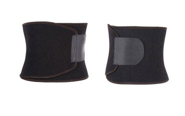 Adjustable Sweet Waist Trimmer Sweat Belt Shaper Slimming Belt Wrap Belly Exercise Tummy Girdle for Men Women 2