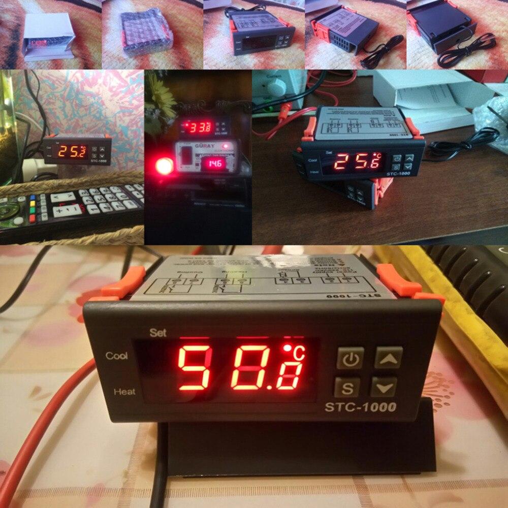2017 Nouveau Haute Qualit Temprature Contrleur Thermostat Kegerator Temperature Controller Using Stc1000 Aquarium Le Forfait Comprend 1 X Mini De Avec Cble