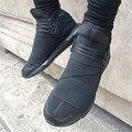 Lace Up Sapatilha Homme Moda Pisos Casual Zapatos de Los Hombres Del Top Del Alto Botines Plataforma Gladiador de Cuero Outwear Hombres Zapatos Size45