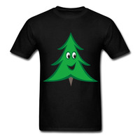 Smiling Christmas Tree Svg T Shirt 2018 Christmas Tee Men Women Shirts Short Sleeve Tops T