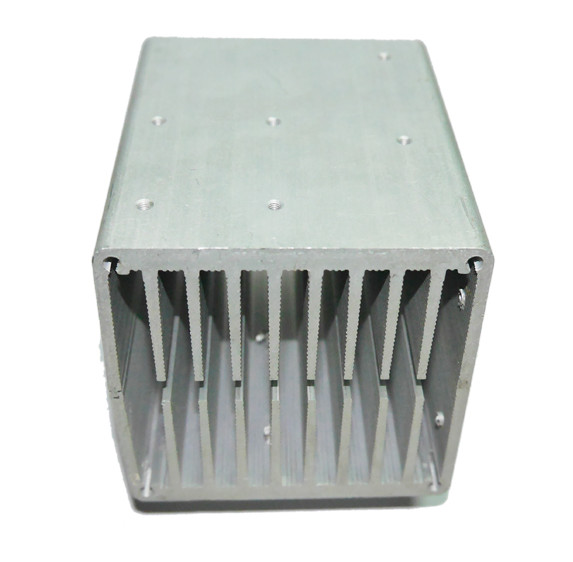 High quality CPU aluminum heat sink 80*80*80mm electronic aluminum alloy air cooled radiator Can install fan aluminous profile medium computer cpu plastic cooling fan leaves card blower heat sink