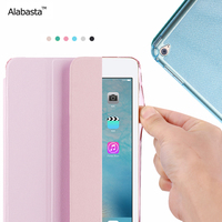 Alabasta Cover Case For Apple IPad Air1 2 PU Soft Silicone Matte Back Cover Flip Stand