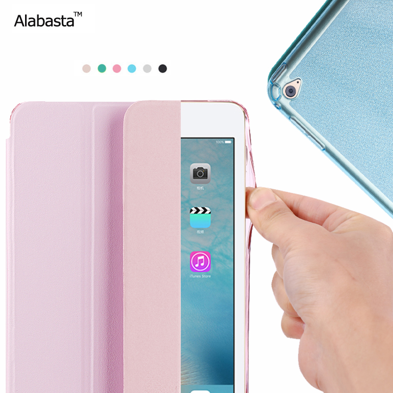 Alabasta Cover Case for Apple iPad Air1 2 PU Soft Silicone Matte Back Cover Flip Stand Protect Tablet Smart Case with touch Pen high quality thickening tpu silicone cover for ipad air ipad 5 case fashion soft transparent froste cover air1 tablet pc stand
