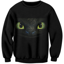 YOUTHUP Anime Print Male 3d Swetshirts Toothless Pullover Sweatshirts Men Pullovers Plus Size Streetwear Harajuku