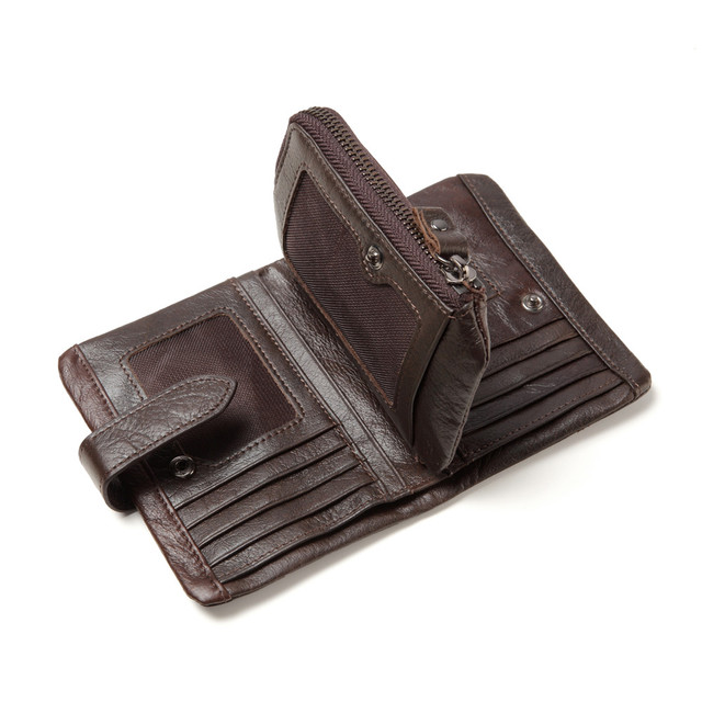 Men's Genuine Leather Short Wallet