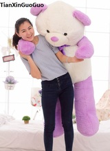 fillings toy light purple teddy bear plush toy huge 160cm bear doll soft hugging pillow toy Christmas gift b2798