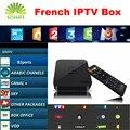 GOTiT S905 TV Caja Libre de 1 Año 900 + Canales de IPTV Árabe Francés iptv qhdtv/neotv quad core smart 1g/8g androide kodi tv set top caja