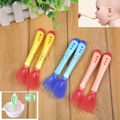 1 unid cuidado del bebé Nuevo de Seguridad de Detección de Temperatura Cuchara tenedor Cubiertos Cuchara de Alimentación Del Bebé Bebés y Niños Destete de Silicona Vajilla Cabeza