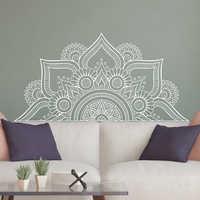 New Design Half Mandala Wall Stickers For Bedroom Home Decor Headboard Vinyl Decals Flower Mandala Wall Decal Yoga Wall LC1196